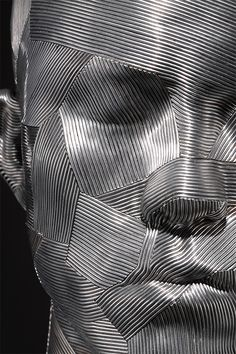 Metal Wire Sculpture by Park Seung Mo _