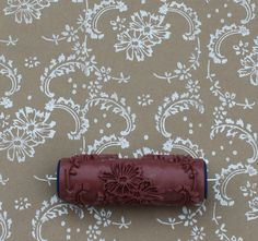 Patterned Paint Roller in Symphony Scrolls  by NotWallpaper, $19.00 paint your walls, floors, wrapping paper furniture in more! #DIY #patternedpaintroller
