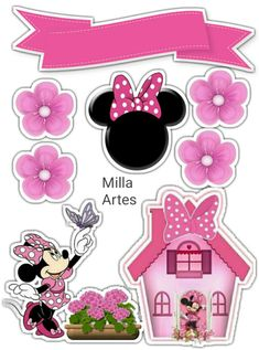 Minnie Mouse hugs from her Minnie Mouse Rosa, Minnie Mouse Theme Party, Minnie Mouse Birthday Decorations, Mickey Mouse Birthday, Bolo Minnie, Minnie Cake, Mickey Cakes, Mini Mouse Cake, Christmas Sheets