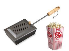 Gear I LOVE: The Camp Chef popcorn popper for popcorn over the campfire! Goes perfect with s'mores.