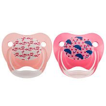 Dr. Browns BPA Free 06 Months Size 1 2 Pack Prevent Orthodontic Printed Pacifier  Wild Girl