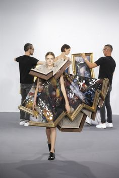 "VIKTOR&ROLF ,HAUTE COUTURE, Wearable Paintings, ""Art comes to life in a gallery of surreal proportions"", pinned by Ton van der Veer"