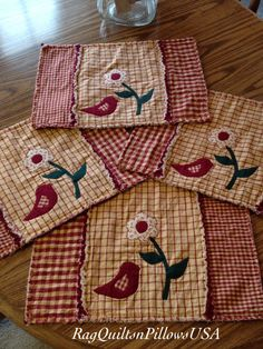 Quilted Placemats, Country Placemats, Set 4, Western Decor ... : country quilted placemats - Adamdwight.com
