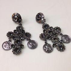 Cross earrings dolce & gabbana inspired