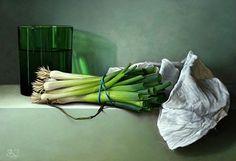 Erik van de Beek Still Life with Spring Onions