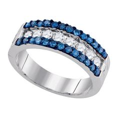 1 CTW-Diamond FASHION BLUE BAND