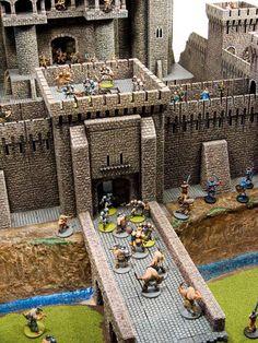 Game Terrain, 40k Terrain, Wargaming Terrain, Model Castle, Toy Castle, Castle Crafts, Castle Project, Warhammer Terrain, Fantasy Miniatures