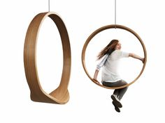 Swing, indoor, outdoor circle swing i rocking chair – a dynamic wooden accesory by iwona kosicka design from poland Street Furniture, Cool Furniture, Furniture Design, Furniture Chairs, Apartment Furniture, Furniture Layout, Furniture Outlet, Furniture Stores, Industrial Furniture