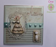 Handmade Greeting Card Santoro Mirabelle White Cat by OneFineCard on Etsy