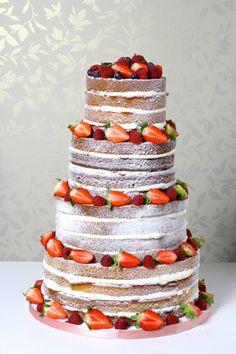 naked #wedding cake ideas: http://www.weddingandweddingflowers.co.uk/article/977/lookbook-naked-wedding-cakes