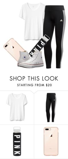 """""""1 of Everything"""" by love123-379 ❤ liked on Polyvore featuring adidas and Converse"""