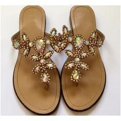 New Listing Iridescent Jewel Sandals Lightweight and gorgeous! Practically goes with any outfit! PP Holds Trades Shoes Sandals