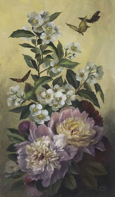 DVD4023  Butterflies and Peonies Half Tone Technique - Jansen Art Store