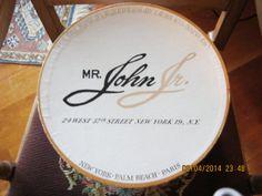 Vintage Mr. John Jr. Hat Box New York Palm by HollyAnnaDesigns, $24.00 Vintage Hat Boxes, John Junior, New Paris, Boxing News, Palm Beach, Jr, Nice Dresses, Glove, Hats