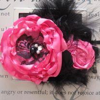Hot Pink and Black Diva headband  8.50  Photo prop, birthday girl headband, baby gift