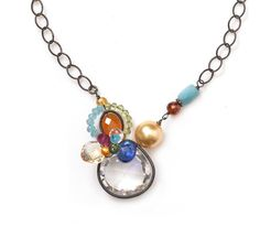Anna Balkan Rock Crystal and Gemstone Necklace at Carlyn Galerie