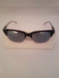 83fd88a0e27a2 Sperry Langley Polarized Black Gray Crystal Sunglasses - USED  fashion   clothing  shoes