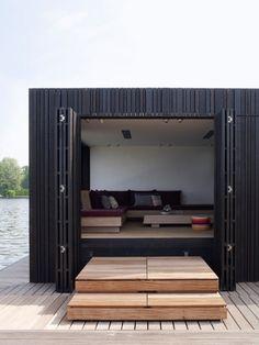 Boathouse....way fun!!!! #design #house #lake