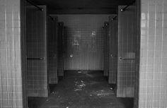 Shower Stalls - Photo of the Abandoned Pennhurst State School
