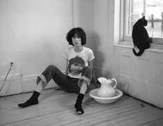 Patti Smith and friend