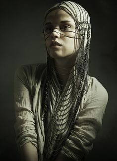 Chainmail headpiece - personally I don't care for the bits going across the face, but the other parts are cool.