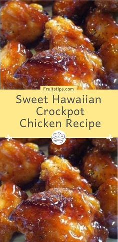 You will need: 2 lb. chicken tenderloin chunks 1 cup pineapple juice cup brown sugar cup soy sauce How to make it : combine all together, cook on low in crock-pot hours…that's it! preparation: cook: ready in: Sweet Hawaiian Crockpot Chicken Recipe, Pineapple Chicken Recipes, Island Chicken Recipe, Hawaiian Food Recipes, Chicken Breats Recipes, Recipes With Chicken Tenderloin, Crockpot Chicken Tenderloins, Amazing Chicken Recipes, Hawaiian Chicken Slow Cooker