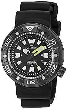 Citizen Men's 'Promaster Diver' Quartz Stainless Steel and Polyurethane Diving Watch, Color:Black (Model: BN0175-19E)