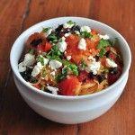 Spaghetti Squash Side Dish With Feta, Olives, and Basil