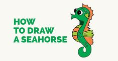 Easy step-by-step tutorial to drawing a Seahorse. Follow the simple instructions and in no time you've created a great looking seahorse drawing.