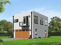 062G-0084: Modern 2-Car Garage Apartment Plan ~ Great pin! For Oahu architectural design visit http://ownerbuiltdesign.com