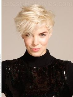 Short Blonde Thick Hairstyle by lilia