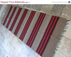 HOLIDAY SALE 25% Antique Anatolian Kilim Rug by VintageHomeStories