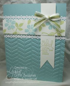 Stampin' Up! Card  by Lyssa Zwolanek at Song of my Heart Stampers