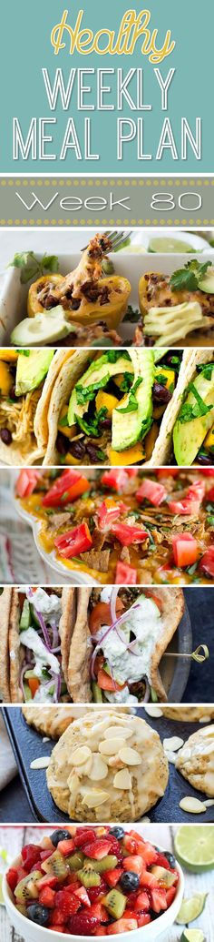 A delicious mix of healthy entrees, snacks and sides make up this Healthy Weekly Meal Plan for an easy week of nutritious meals your family will love! (Healthy Recipes For Family) Healthy Weekly Meal Plan, Healthy Menu, Healthy Cooking, Healthy Eating, Healthy Recipes, Healthy Foods, Weekly Menu, Free Recipes, Healthy Life