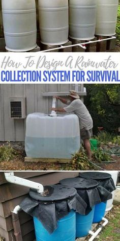 How To Design A Rainwater Collection System For Survival Rainwater collection is a dream of most preppers and survivalists. A slick system that takes full advantage of that great sky falling resource. Survival Food, Homestead Survival, Survival Prepping, Emergency Preparedness, Survival Skills, Wilderness Survival, Outdoor Survival, Survival Fishing, Emergency Supplies