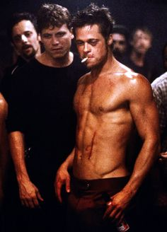 i do not normally like brad pitt. however, fight club and snatch are exceptions...i guess i like him as a bloody badass. this picture is nothing short of perfection