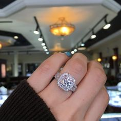 Most Popular Engagement Ring On Pinterest #WeddingRings