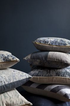Rebecca Atwood, Brooklyn NY - Levels of indigo, pattern mixing.