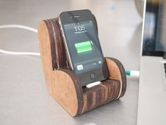 DIY Wooden Comfy Chair iPhone Dock