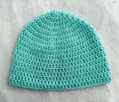 Sea Foam Green Crochet Beanie Adult Women's by SonitasYarnStash