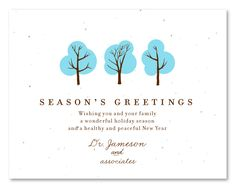 15 best holiday greeting cards plantable images on pinterest plantable business holiday cards for your doctors office give your patients holiday greetings with this winters trees add a green touch to your festive m4hsunfo