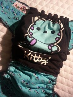 Kitty!, Monsters Inc., Sully, Cloth Diaper, Fitted Diaper, Doopa Diapies