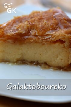 Greek Recipes, Cheesecake, Deserts, Food And Drink, Pudding, Sweets, Meals, Vegan, Dinner