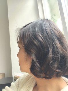 Side view wavy bob. Wob. Digital perm. Asian hair. Japanese perm. Short cut