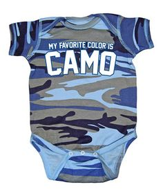 Love this Blue Camo 'My Favorite Color' Bodysuit - Infant by Country Casuals on #zulily! #zulilyfinds