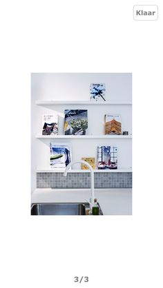 """RIBBA Picture ledge - 45 ¼ """" - IKEA Another option for Oliver's book ledges Ribba Picture Ledge, Picture Shelves, Picture Rail, Photo Ledge, Book Shelves, Picture Books, Boy And Girl Shared Bedroom, Little Girl Rooms, My Living Room"""