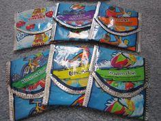 my favorite juice pouch change purse-Juniors Let's get moving project
