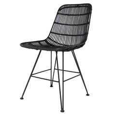 his Dining Chair features a solid black metal frame with a woven rattan chair. Available in White, Black & Natural rattan. Dining room chair or breakfast table chair? Rattan Dining Chairs, White Dining Chairs, Outdoor Chairs, Dining Room, Furniture Sale, Furniture Design, Sheepskin Seat Covers, Structure Metal, Scandi Style