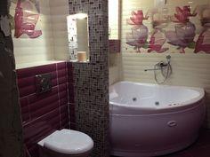 Фиолетовая ванная комната: фото, дизайн, сочеатние цветов.   Дизайн ванной комнаты, интерьер, ремонт, фото.