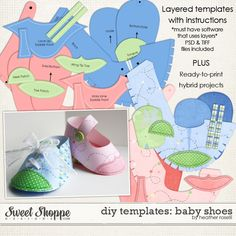 Free Paper Shoe Template | ... Templates :: DIY Printable Templates: Baby Shoes by Heather Roselli